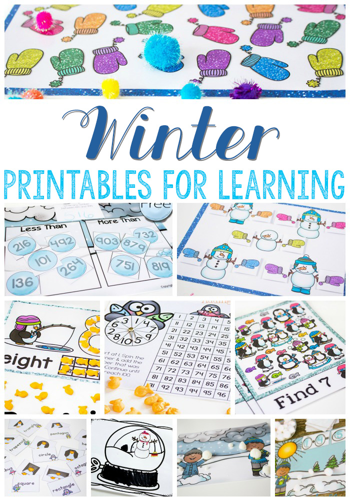 FREE Winter Printables for Learning