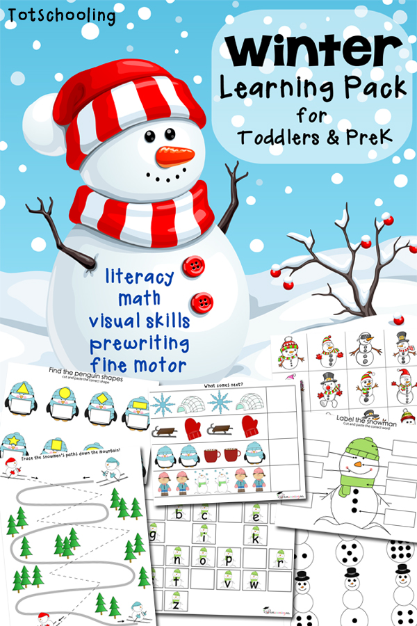 FREE Winter Learning Pack for Toddlers and PreK  Free Homeschool Deals