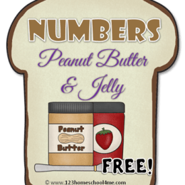 FREE PB&J NUMBER SANDWICHES (Instant Download)