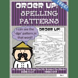 Homeschool Freebies: Spelling Pattern Order Up Download!