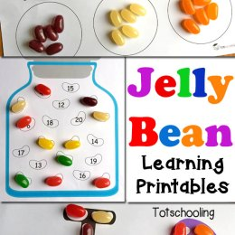 FREE Jelly Bean Learning Printables