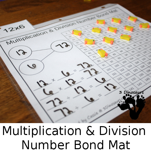 Free Multiplication Amp Division Mats Free Homeschool Deals