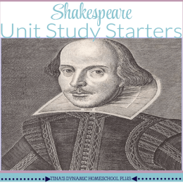 FREE Shakespeare Unit Study
