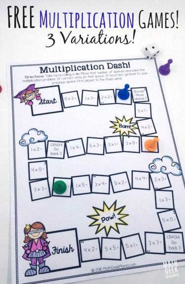 Free Multiplication Games