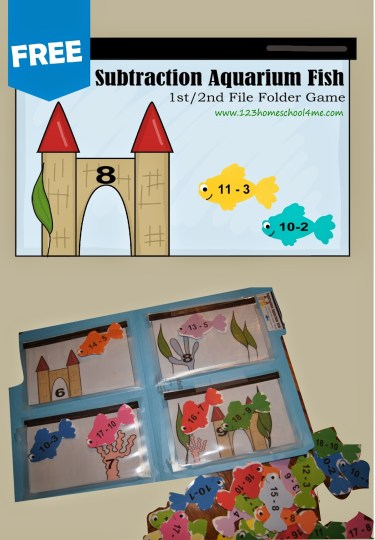 Subtraction File Folder Game