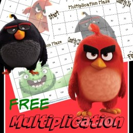 FREE Angry Birds Multiplication Math Printables