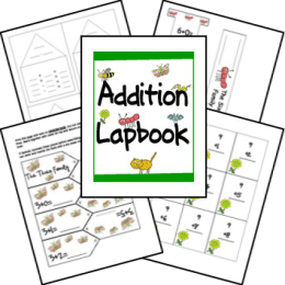 FREE Addition Facts Practice Lapbook