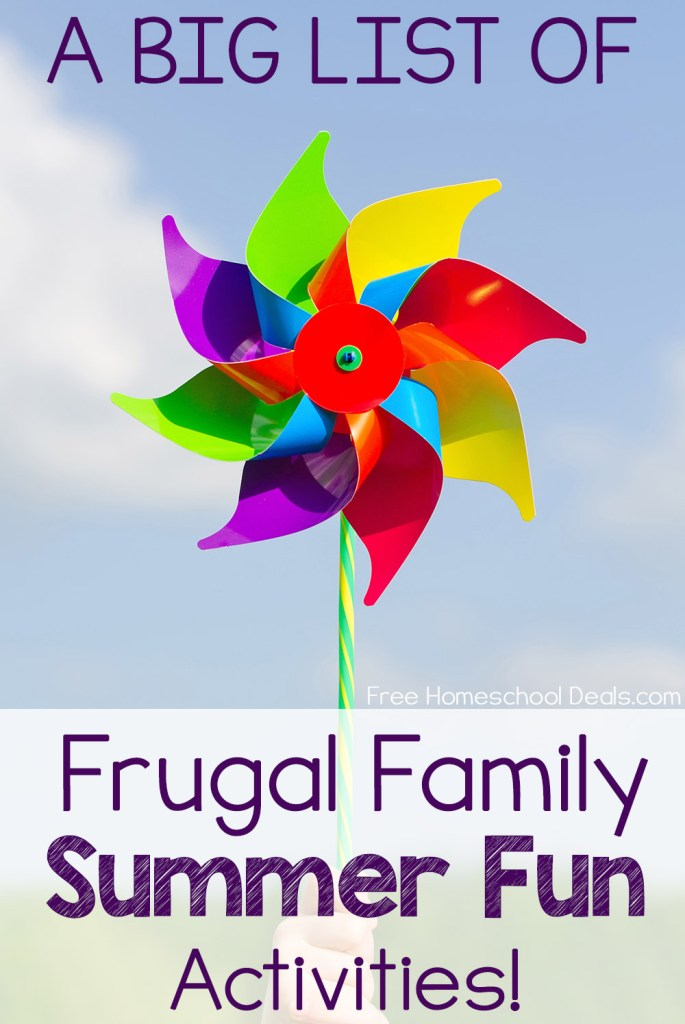 The Big List of Frugal Family Summer Fun Activities!