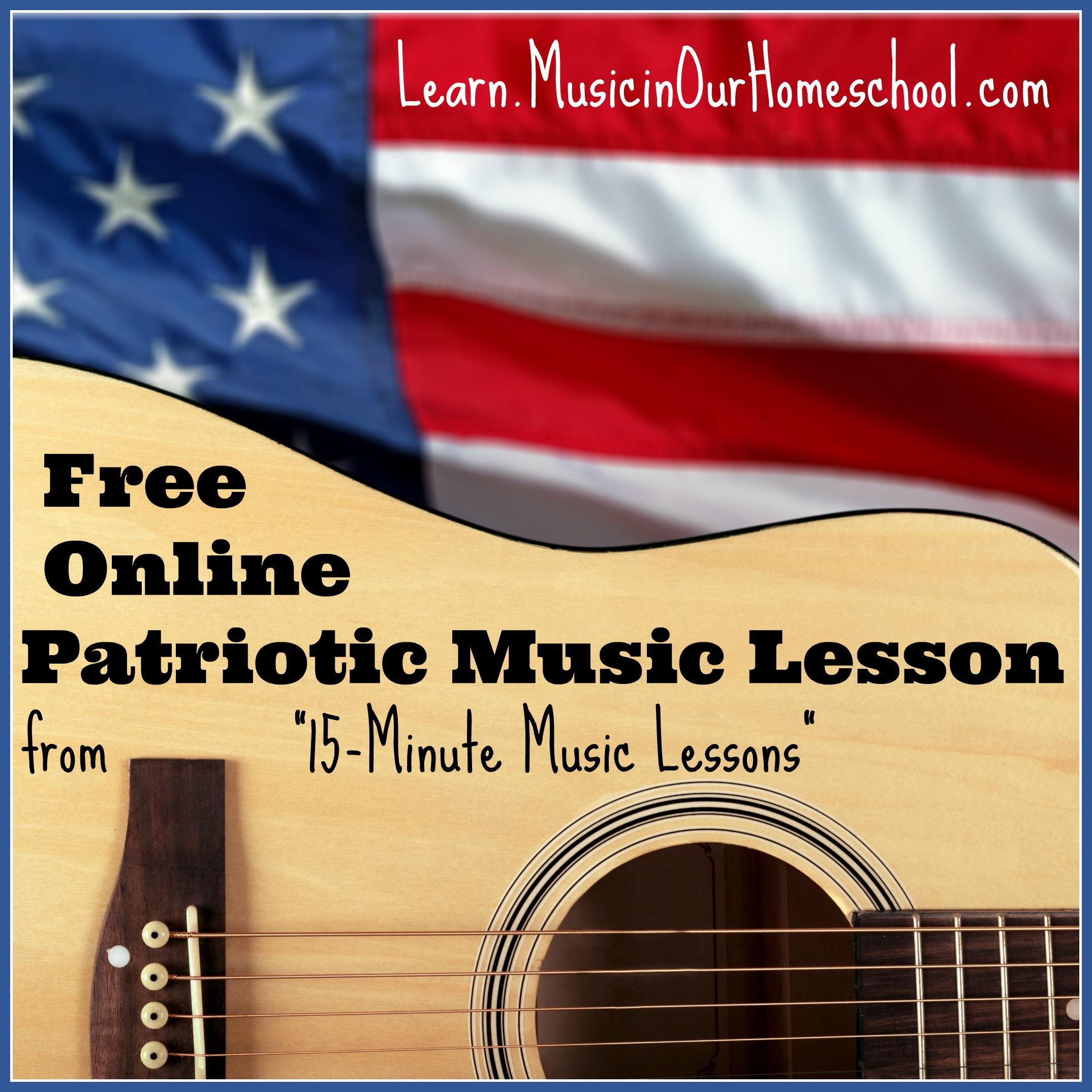 Free Patriotic Music Lesson
