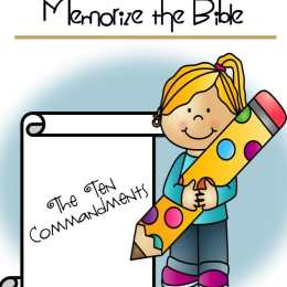 FREE 10 Commandments Read, Write and Memorize Pack