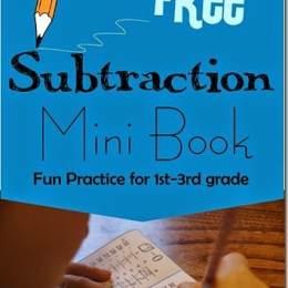 FREE Subtraction Mini Book