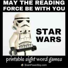 FREE Star Wars Sight Word Printables