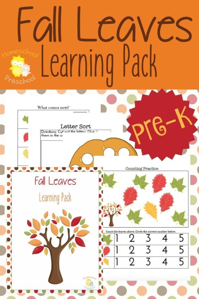 FREE Fall Leaves Preschool Printables