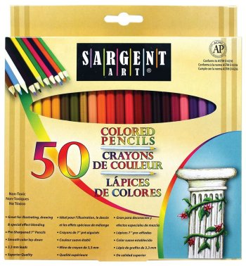 Sargent Art Colored Pencils 50 Pack Only $8.29! (35% Off!)