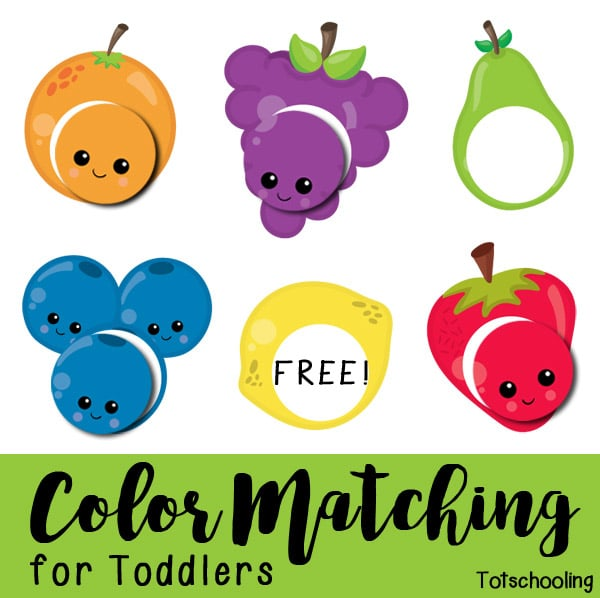 FREE Fruit Color Matching Printable | Free Homeschool Deals