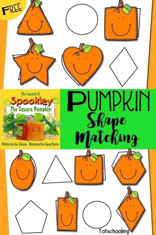 FREE Pumpkin Shape Matching