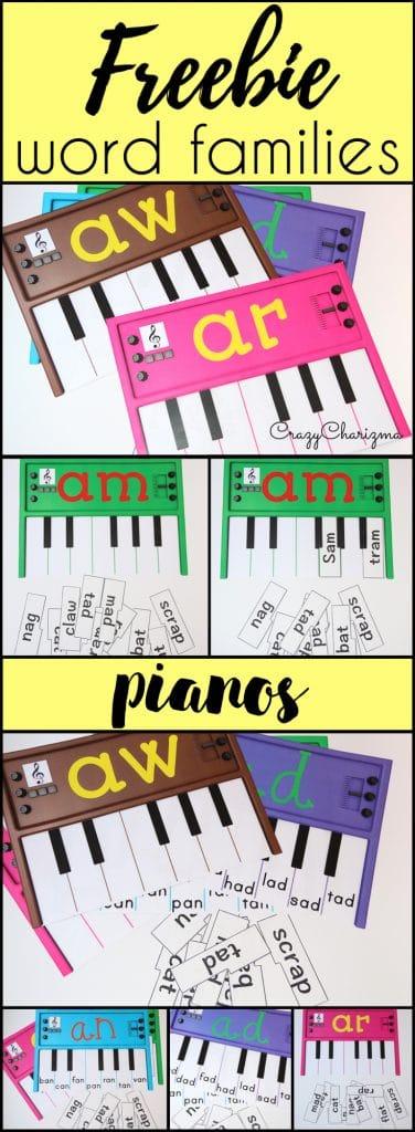 FREE Word Family Pianos