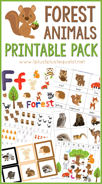 FREE Forest Animals Printables Pack