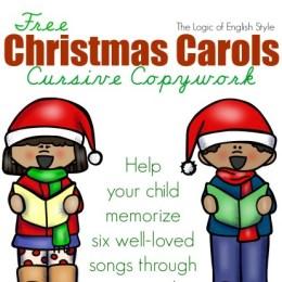 Free Christmas Carol Cursive Copywork