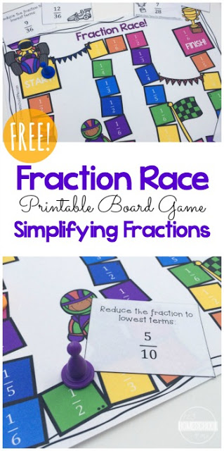 Free Fraction Board Game
