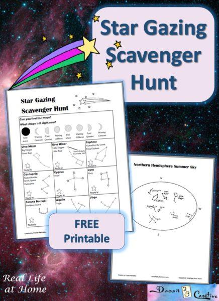 Free Star Gazing Scavenger Hunt