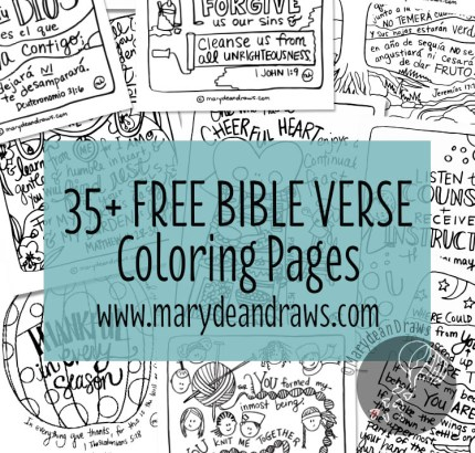 Free Bible Verse Coloring Pages (35+ Pages!) | Free Homeschool Deals ©