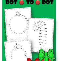 Free Christmas Dot-to-Dot Printables