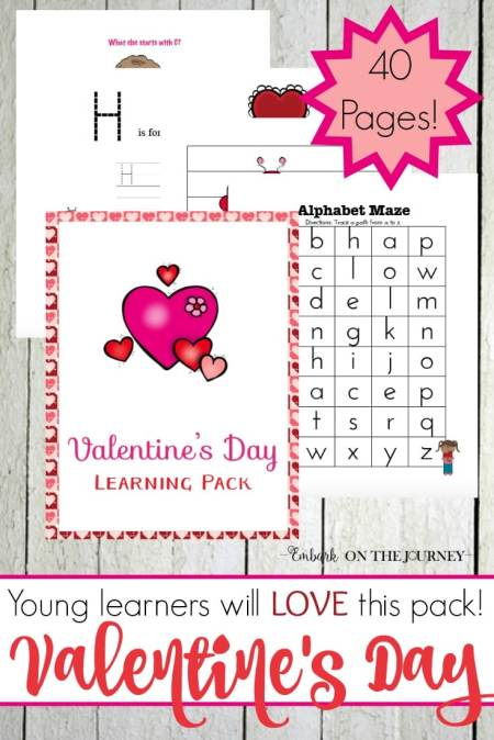 Free Valentines Day Printable Pack for Grades PreK-1 (40 Pages!)