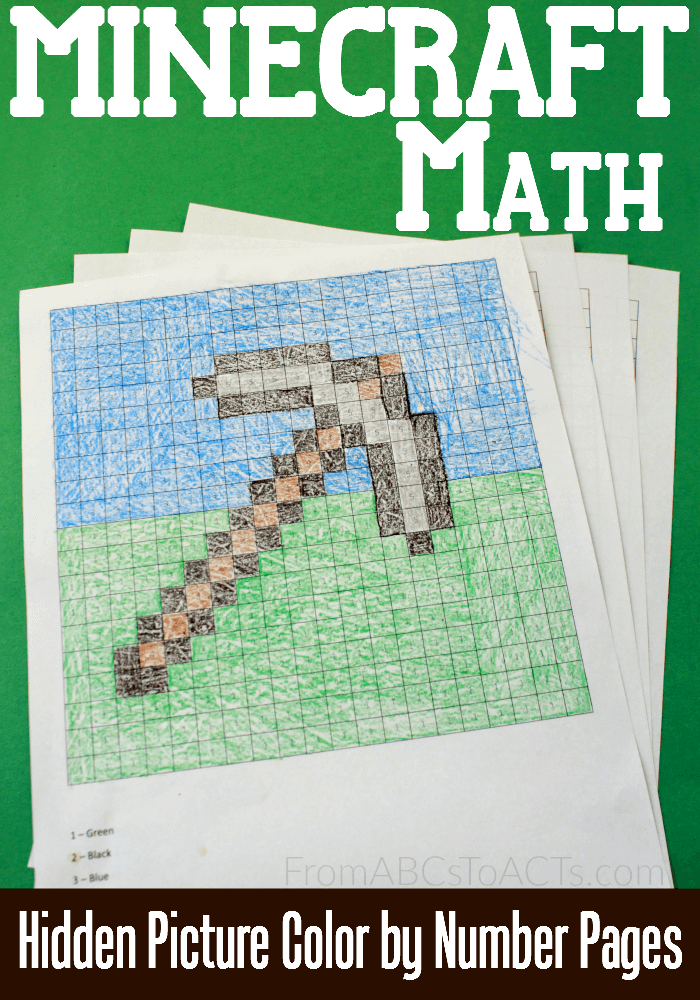 Free Minecraft Hidden Picture Math