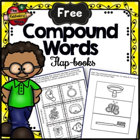 Free Compound Words Flap-books