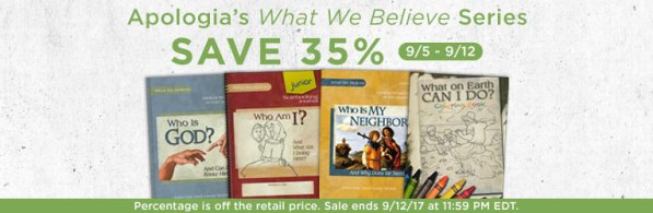 35% Off Apologia's What We Believe Curriculum