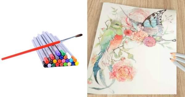 Ohuhu 24 Piece Watercolor Pencil Set