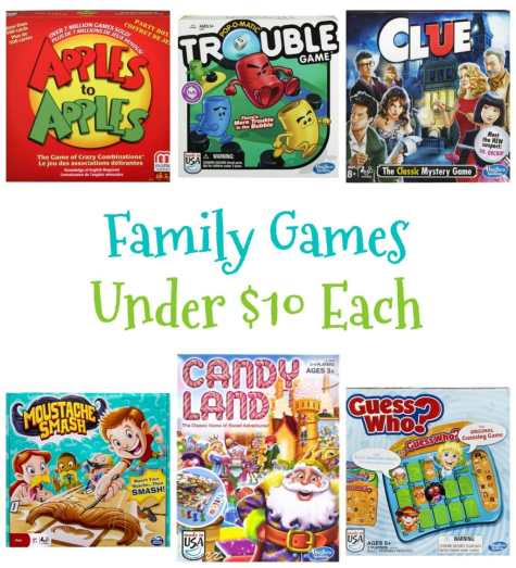 Family Games Under $10 Each