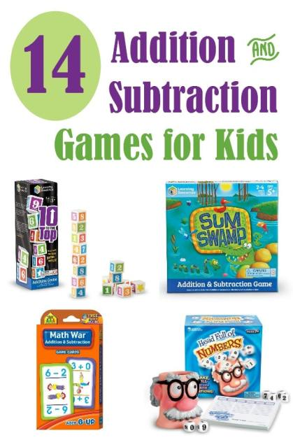 14 Fun Addition & Subtraction Games for Kids