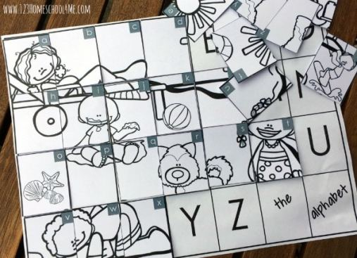 Free Alphabet Picture Puzzles