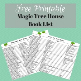 Free Magic Tree House Book List Printable