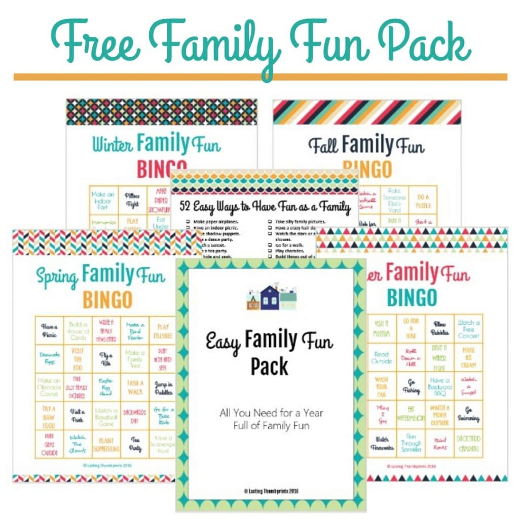 Free Easy Family Fun Printable Pack