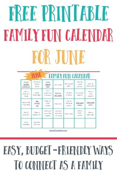 Free June Family Fun Calendar