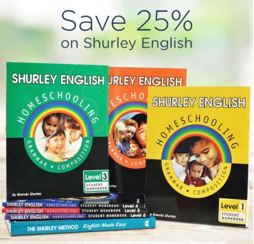 25% Off Shurley English Homeschool Curriculum