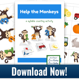 Free Help the Monkeys Syllable Counting Game