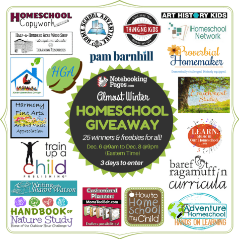 HUGE $1200+ Homeschool Giveaway: 25 Winners Total - Limited Time!