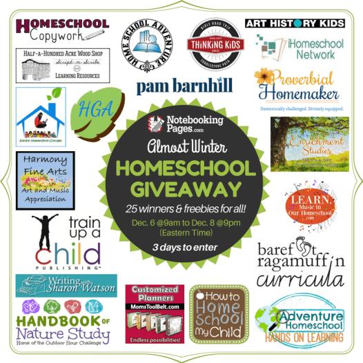 HUGE $1200+ Homeschool Giveaway: 25 Winners Total - Limited Time!