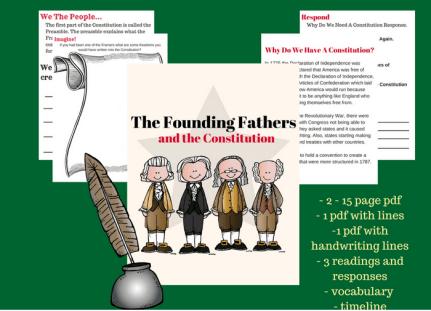 Free Constitution Workbook ($10 Value!)