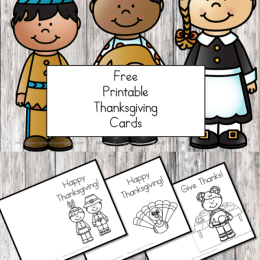 Free Printable Thanksgiving Cards for Kids