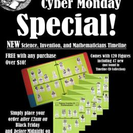 Free Science, Invention, & Mathmetician Timeline w/ Purchase Over $10