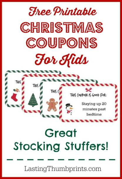 Free Printable Christmas Coupons for Kids