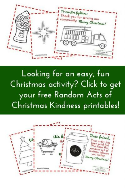 Free Random Acts of Christmas Kindness Pack