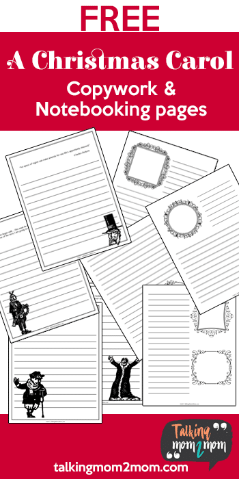 Free A Christmas Carol Copywork & Notebooking Pages