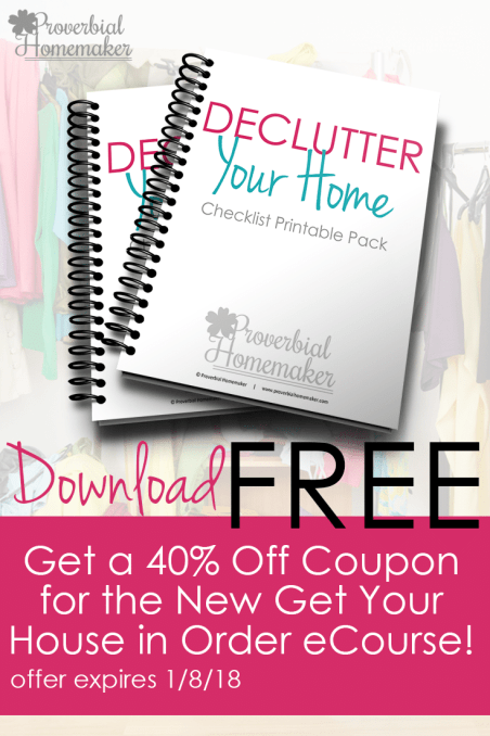 Free Declutter Your Home Checklist + Coupon