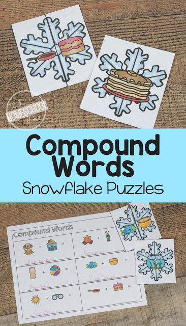 Free Snowflake Compound Words Puzzles